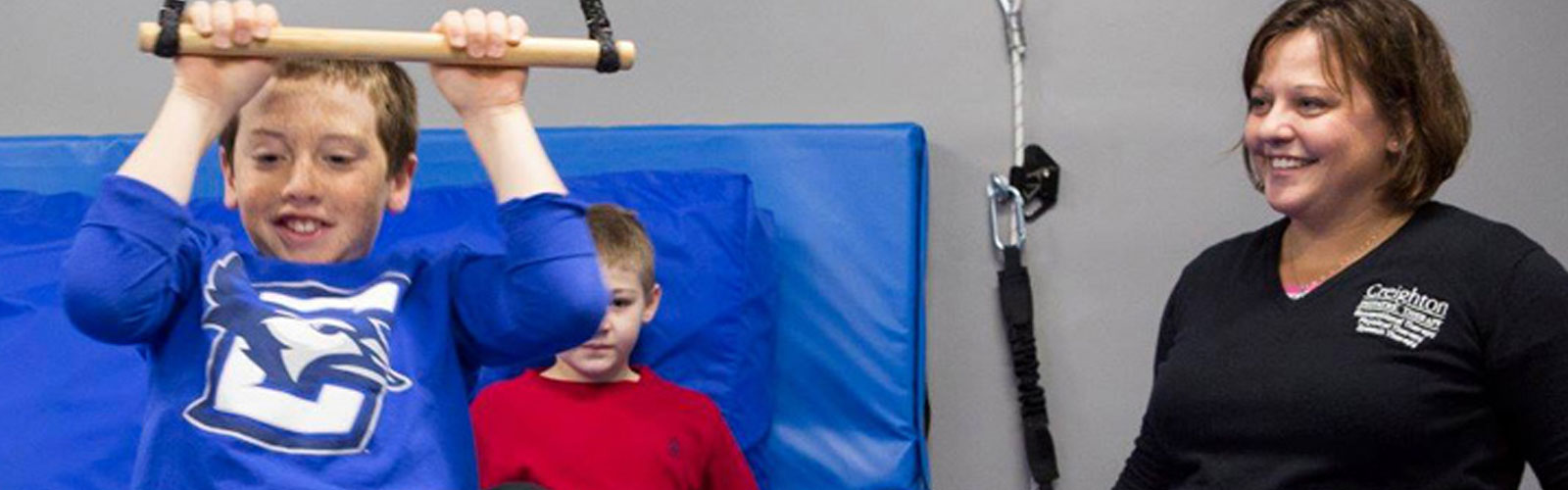 child playing for Creighton University Pediatric Therapy