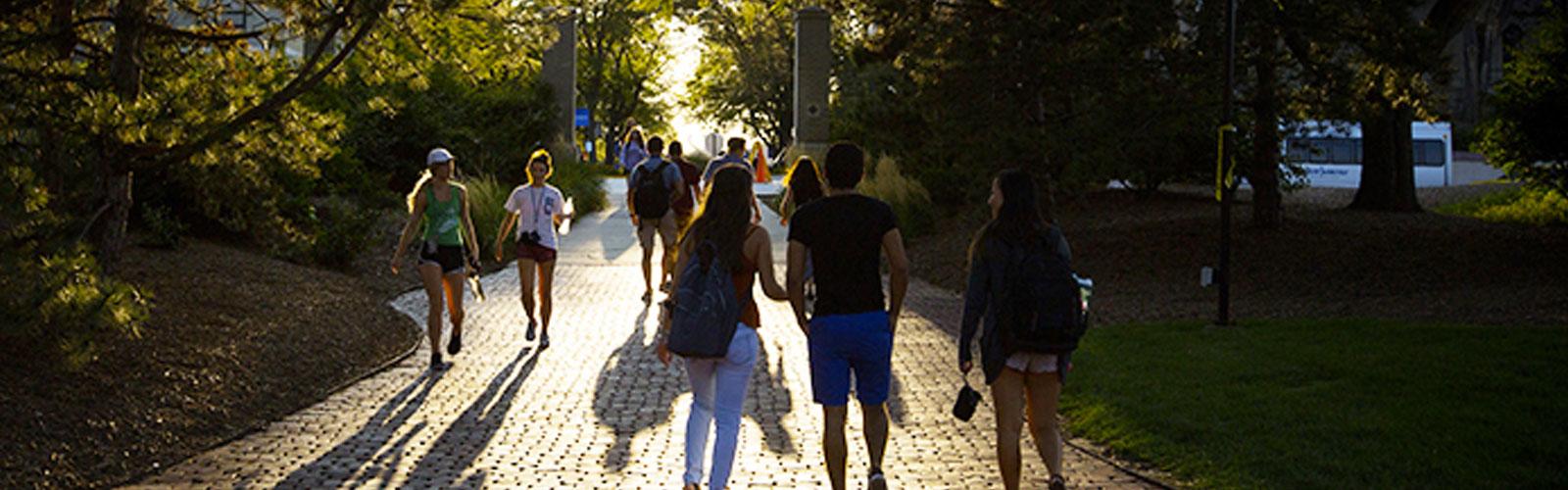 students walking at creighton university