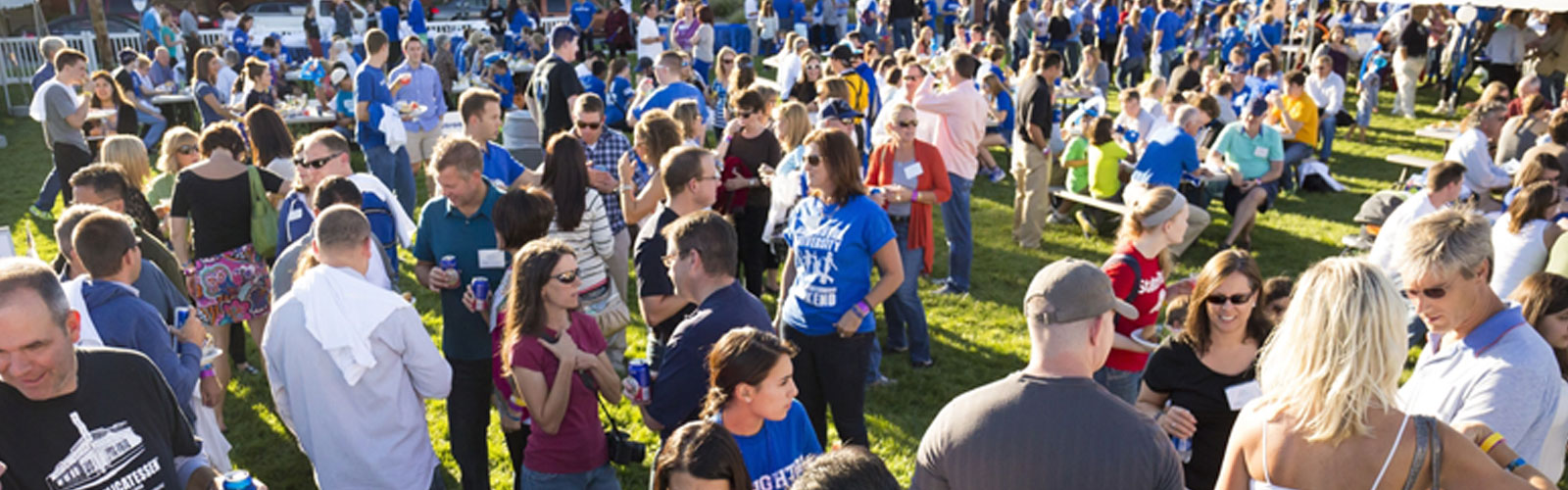 large amount of people at an event at Creighton University