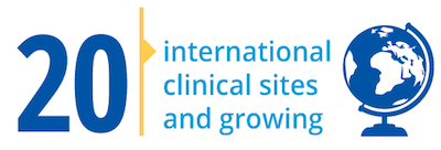 20 international clinical sites  and growing