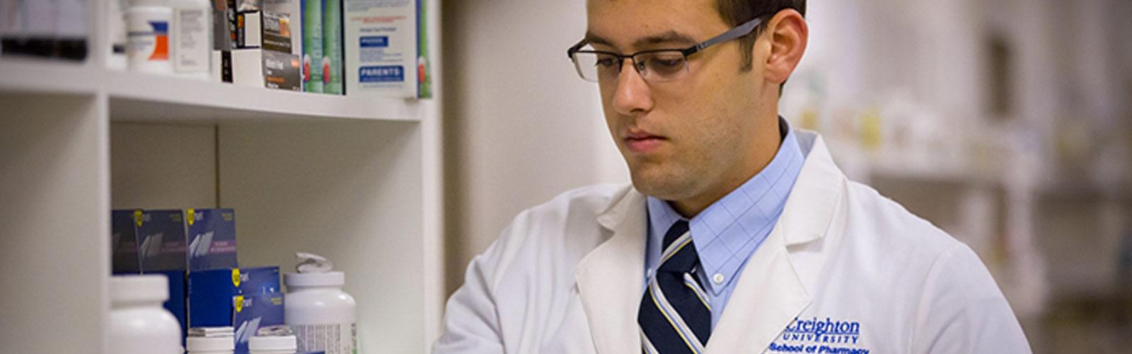 male student for Pharmacy Creighton University