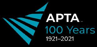 APTA 100 years logo