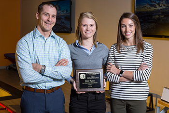 Student research jumps away with first place honor at Midwest competition.
